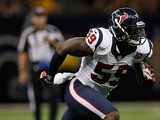 Whitney Mercilus #59 of the Houston Texans at the Mercedes-Benz Superdome on August 25, 2012