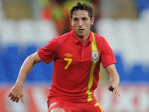 Wales' Joe Allen in action against Ireland on August 15, 2013