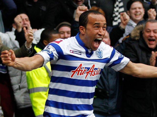 Andros Townsend celebrates scoring his first goal for Queens Park Rangers.