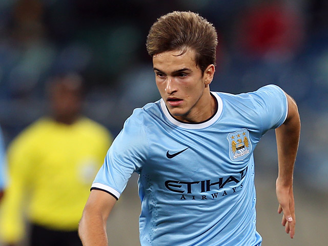 Manchester City's Denis Suarez in action during a friendly match against AmaZulu on July 18, 2013