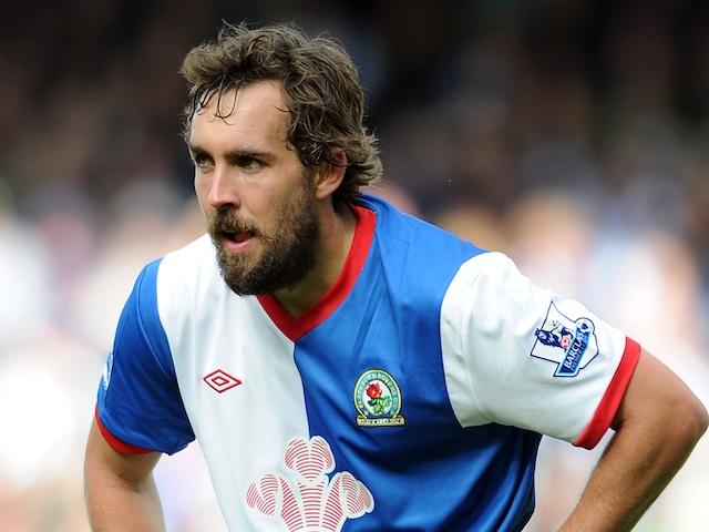 Blackburn's Gael Givet in action against Everton on August 27, 2011