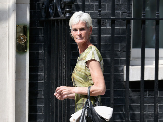 Judith Murray arrives at 10 Downing Street on July 8, 2013