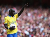 Bacary Sagna of Arsenal in action during the match between Arsenal and Napoli at Emirates Stadium on August 3, 2013