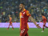 Galatasaray's Burak Yilmaz during the Turkish Super League football match between Fenerbahce and Galatasaray, at Sukru Saracoglu stadium in Istanbul, on on May 12, 2013