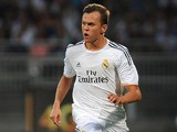 Denis Cheryshev of Real Madrid in action during the Pre Season match between Olympique Lyonnais and Real Madrid at Gerland Stadium on July 24, 2013