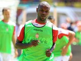 Monaco's French defender Eric Abidal trains before the French L1 football match between Monaco and Montpellier on August 18, 2013