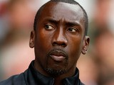 First Team Coach Jimmy Floyd Hasselbaink of Nottingham Forest during the pre-season friendly match between Nottingham Forest and Aston Villa at the City Ground on August 4, 2012