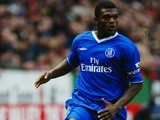 Chelsea defender Marcel Desailly brings the ball forward against Charlton Athletic on December 26, 2003