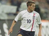 England's Michael Owen in action during the World Cup qualifier against Germany on September 1, 2001