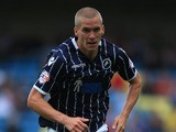 Steve Morison of Millwall in action during the Sky Bet Championship match between Millwall and Huddersfield Town at The Den on August 17, 2013