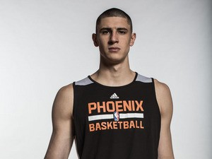 Alex Len of the Phoenix Suns poses for a portrait during the 2013 NBA rookie photo shoot at the MSG Training Center on August 6, 2013