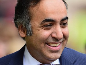 Nottingham Forest owner Fawaz Al Hasawi looks on during the npower Championship match between Nottingham Forest and Leicester City at City Ground on May 4, 2013