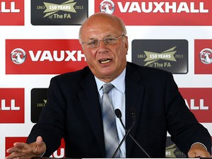FA Chairman Greg Dyke during a media conference on September 4, 2013