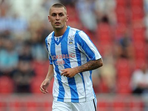 Jack Hunt of Huddersfield Town in action during the pre season friendly match between Rotherham United and Huddersfield Town at The New York Stadium on July 20, 2013