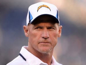 Offensive Coordinator Ken Whisenhunt of the San Diego Chargers during warm up before the game against the Seattle Seahawks at Qualcomm Stadium on August 8, 2013