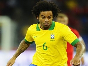 Brazil's Marcelo in action against Switzerland on August 14, 2013