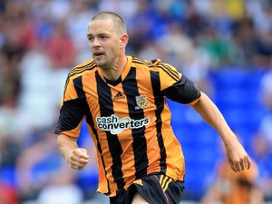 Matty Fryatt of Hull in action during the Pre Season Friendly match between Birmingham City and Hull City at St Andrews (stadium) on July 27, 2013