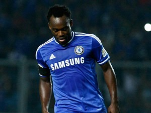 Chelsea's Michael Essien in action during a friendly match against Indonesia All-Stars on July 25, 2013