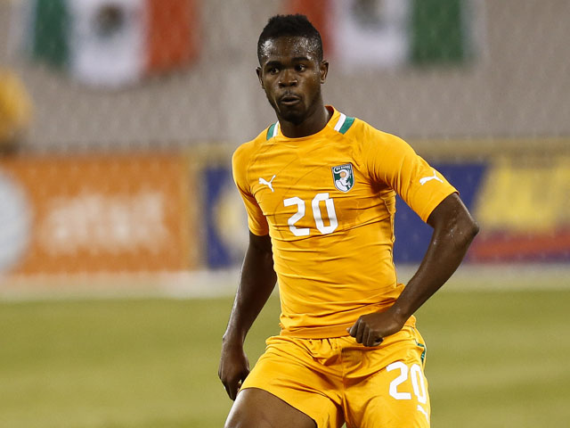Abdul Razak #20 of Ivory Coast plays against Mexico during their match at MetLife Stadium on August 14, 2013