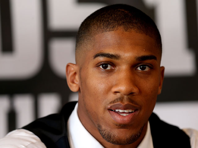 Anthony Joshua attends a press conference to announce his signing to Matchroom on July 25, 2013