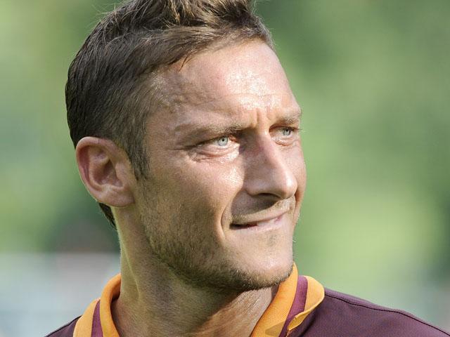Francesco Totti of AS Roma looks during the pre-season friendly match between AS Roma and Bursaspor Kulubu on July 21, 2013