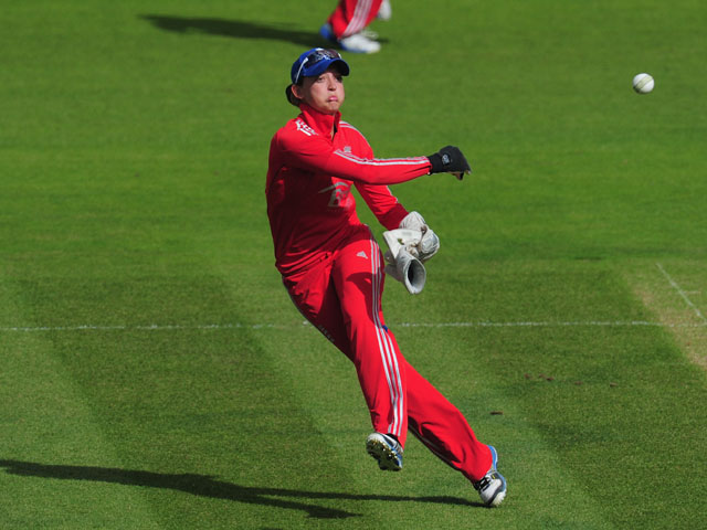England player Sarah Taylor in action during the Women's Ashes Series - 3rd NatWest T20 between England Women and Australia Women at Emirates Durham ICG on August 31, 2013