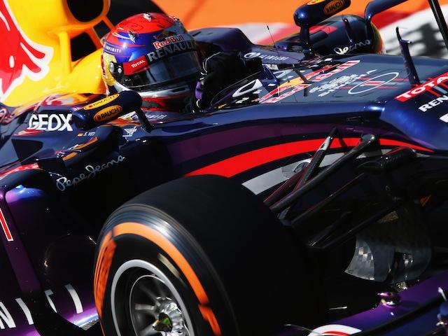 Sebastian Vettel of Red Bull during the final practice session at the Italian Grand Prix on September 7, 2013