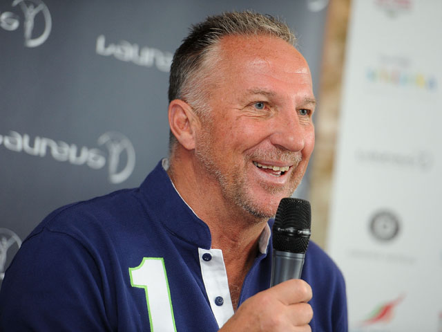 Sir Ian Botham, Laureus Academy Member speaks to the media during the Sri Lanka Walk Launch on June 12, 2013