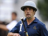 Former Argentine football striker Gabriel Batistuta takes part in a polo match between Loro Piana team and Chapelco, in Buenos Aires, on March 3, 2009