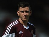 Hearts' Jamie Walker in action on July 13, 2013