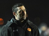 Catalan Dragons coach Laurent Frayssinous during the match against London Broncos on March 28, 2013