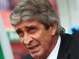 Manchester City manager Manuel Pellegrini during the match against Stoke on September 14, 2013