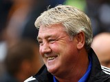 Hull boss Steve Bruce prior to kick-off in the match against Cardiff on September 14, 2013