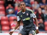 Steven Nzonzi of Stoke City in action during the pre season friendly match between Wrexham AFC and Stoke City at Racecourse Ground on August 4, 2013