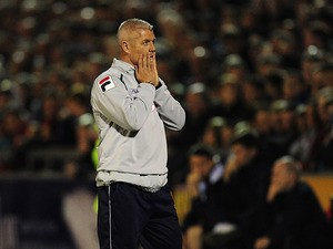 Carlisle assistant manager Graham Kavanagh on the touchline during the League Cup match against Tottenham on September 26, 2012