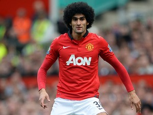 Manchester United's new signing Marouane Fellaini in action against Crystal Palace on September 14, 2013