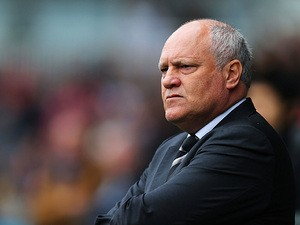 Fulham manager Martin Jol prior to kick-off in the match against West Brom on September 14, 2013