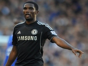 Chelsea forward Samuel Eto'o in action against Everton on September 14, 2013