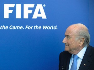 President of FIFA, Joseph 'Sepp' Blatter, gives a press conference following a meeting of the FIFA task force with Paletestinian and Israelian football federations in Zurich, on September 3, 2013