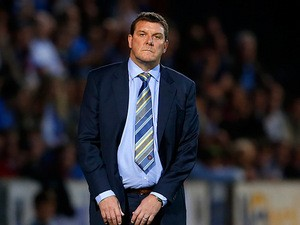 St Johnstone manager Tommy Wright on the touchline against FC Minsk on August 8, 2013