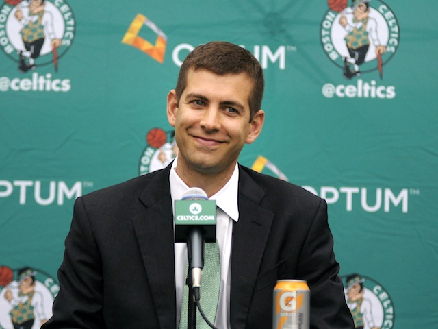 New Celtics coach Brad Stevens meets the media on July 5, 2013