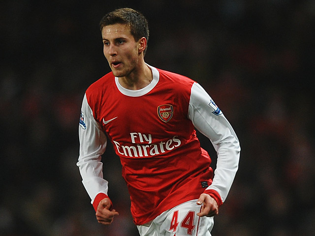 Arsenal's Conor Henderson in action against Leyton Orient during their FA Cup fifth round match on March 2, 2011