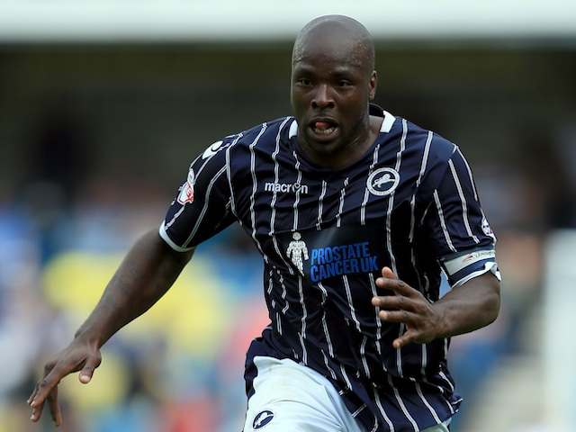 Millwall defender Danny Shittu in action against Huddersfield on August 17, 2013