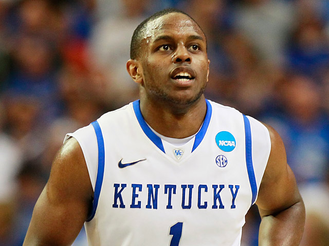 Kentucky Wildcats' Darius Miller in action during the game against Baylor on March 25, 2012
