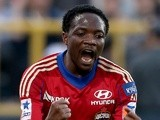 CSKA Moscow's Ahmed Musa celebrates a goal on August 24, 2013