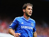 Branislav Ivanovic of Chelsea looks on during the Barclays Premier League match between Chelsea and Hull City at Stamford Bridge on August 18, 2013