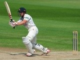 Notts batsman James Taylor plays a shot against Warwickshire on July 17, 2013