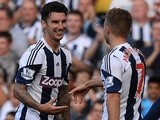 West Brom defender Liam Ridgewell celebrates his goal against Sunderland on September 21, 2013