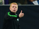 Celtic manager Neil Lennon on the touchline against AC Milan during the Champions League group match on September 18, 2013
