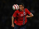 Norway's Omar Elabdellaoui in action against England during their UEFA Under-21 Championship match on September 10, 2012